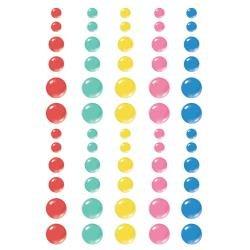 Simple Stories Sunkissed Enamel Dots Embellishments