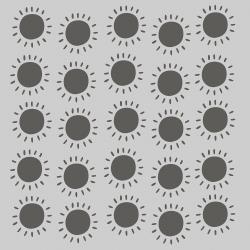Simple Stories Sunkissed Stencil 6X6 Sunshine
