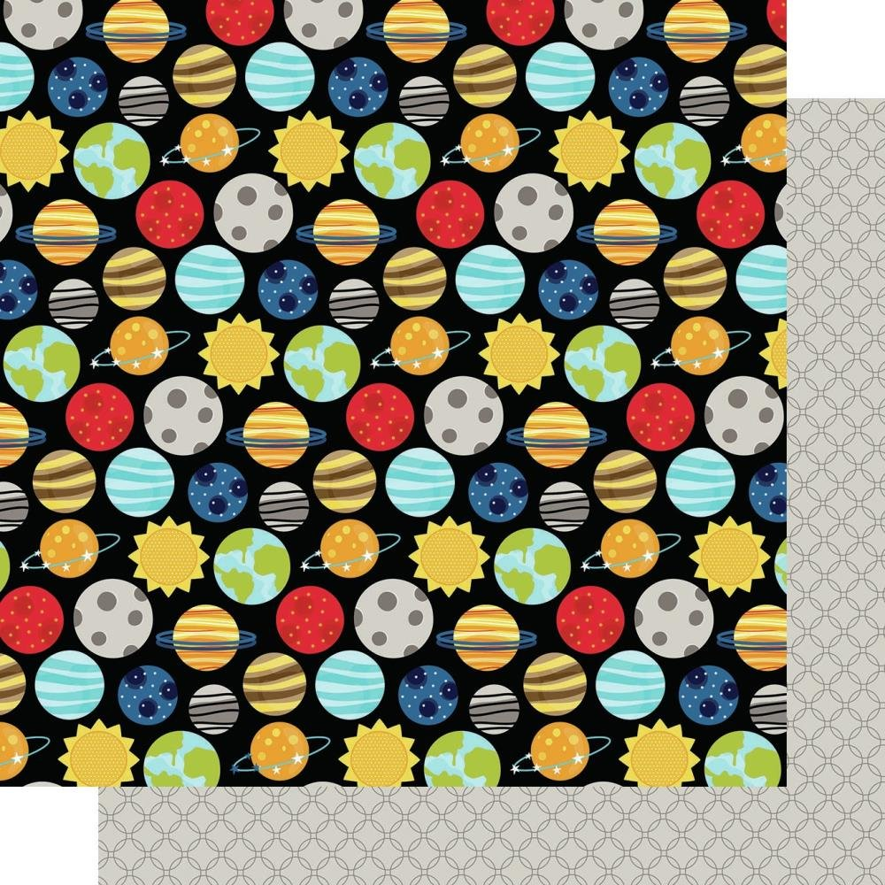 Bella Blvd To The Moon Double-Sided Cardstock 12X12 Solar System