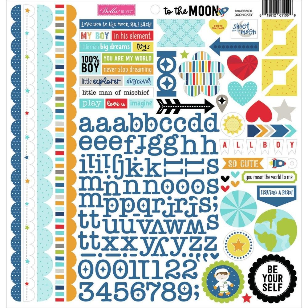 Bella Blvd To The Moon Cardstock Stickers 12X12 Doohickey
