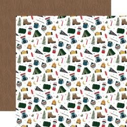 Echo Park Let's Go Camping Double-Sided Cardstock 12X12 Adventure Awaits