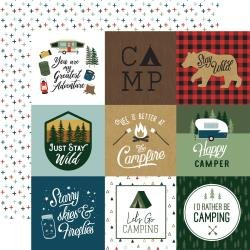 Echo Park Let's Go Camping Double-Sided Cardstock 12X12 4X4 Journaling Cards