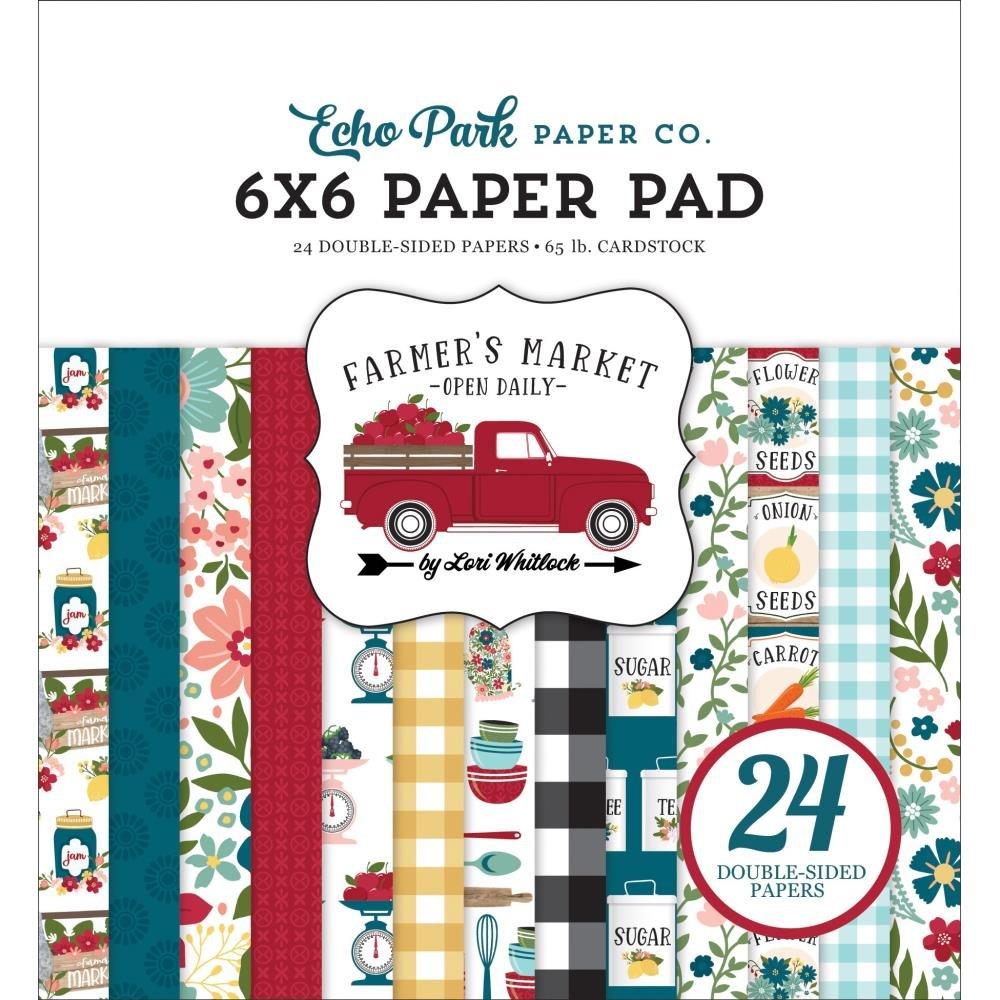 Echo Park Double-Sided Paper Pad 6X6 24/Pkg Farmer's Market