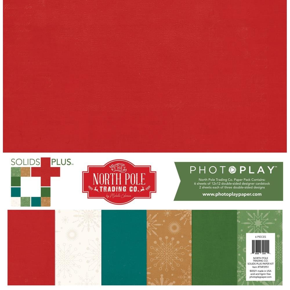 Photoplay The North Pole Trading Co. Double-Sided Solids/Paper Pack 12X12