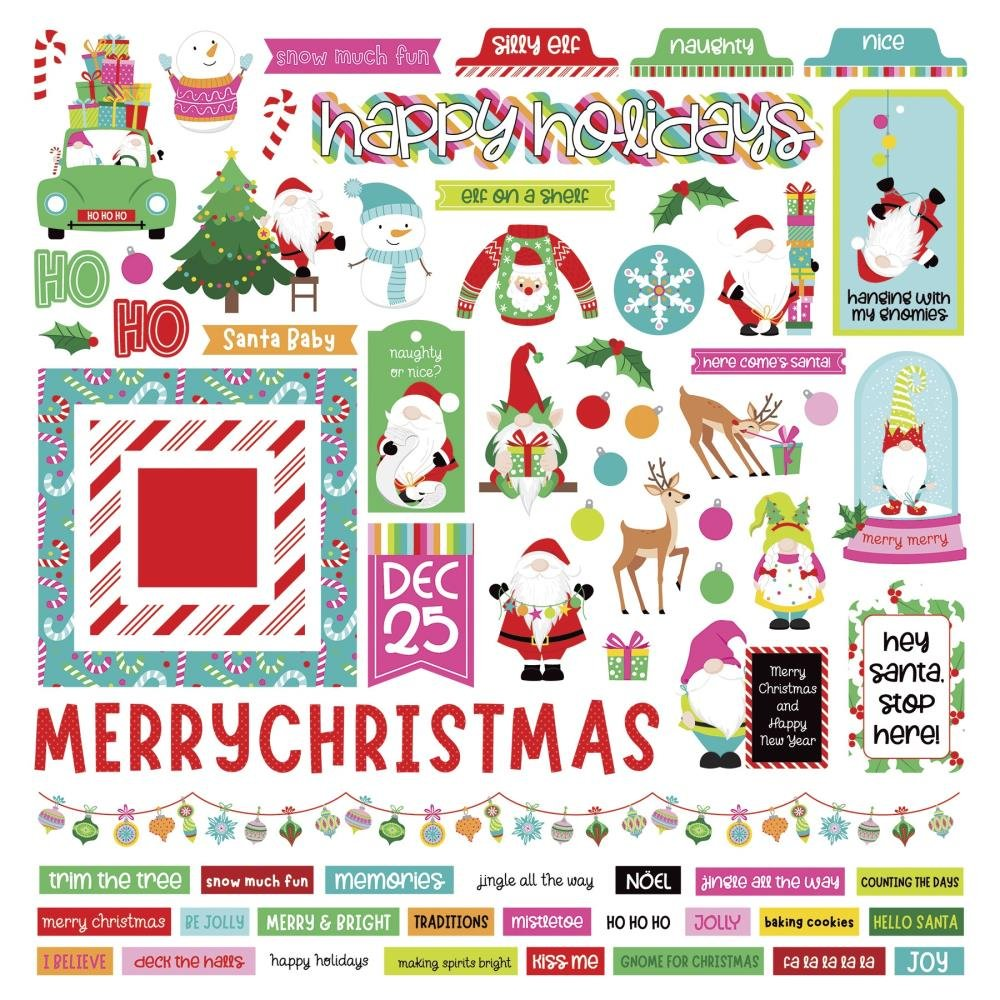 PhotoPlay Tulla & Norbert's Christmas Party Stickers 12X12 Elements