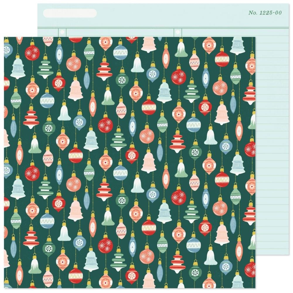 Crate Paper Busy Sidewalks Double-Sided Cardstock 12X12 Deck The Halls