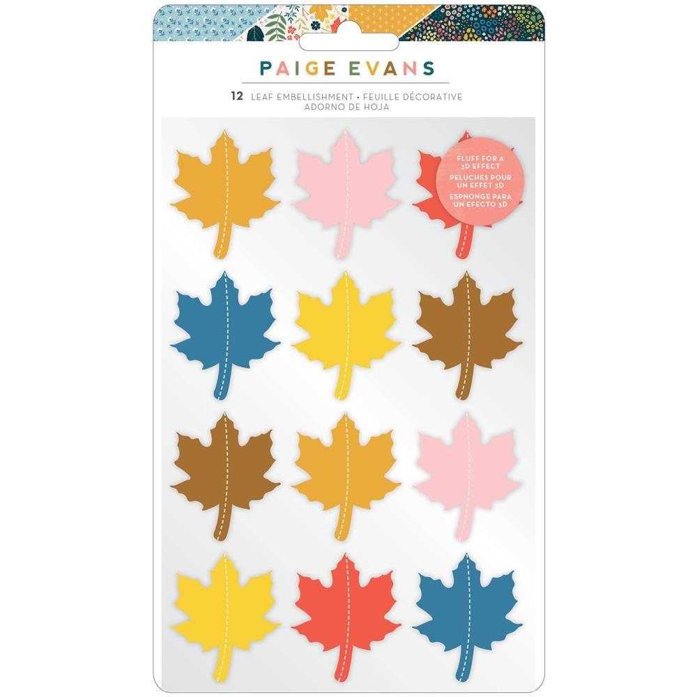 Paige Evans Bungalow Lane Dimensional Stickers 12/Pkg Leaf Embellishment