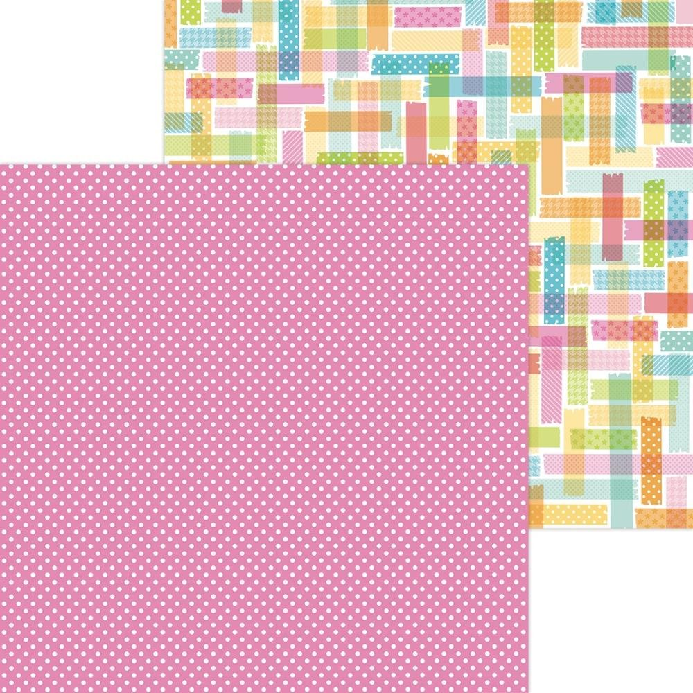 Doodlebug Cute & Crafty Double-Sided Cardstock 12X12 Pretty In Pink