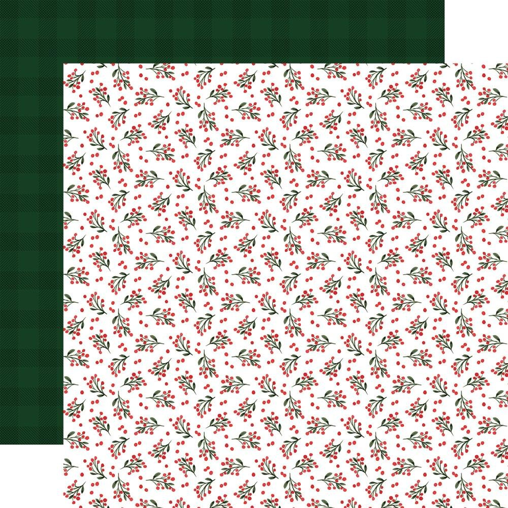 Carta Bella Happy Christmas Double-Sided Cardstock 12X12 Holiday Hollies