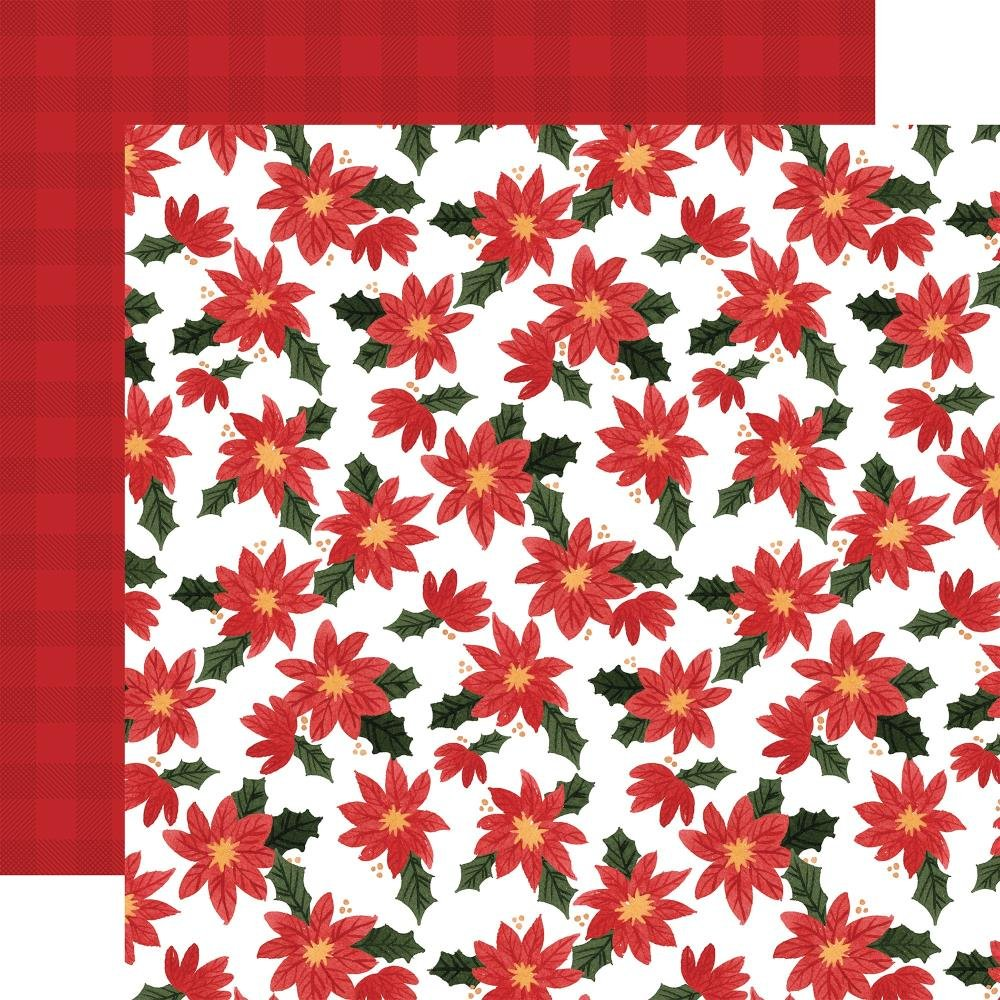 Carta Bella Happy Christmas Double-Sided Cardstock 12X12 Popping Poinsettias
