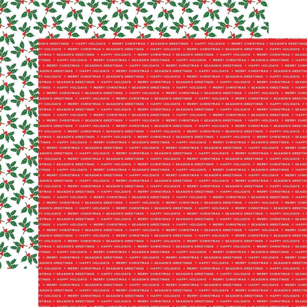 Carta Bella Christmas Cheer Double-Sided Cardstock 12X12 Season's Greetings
