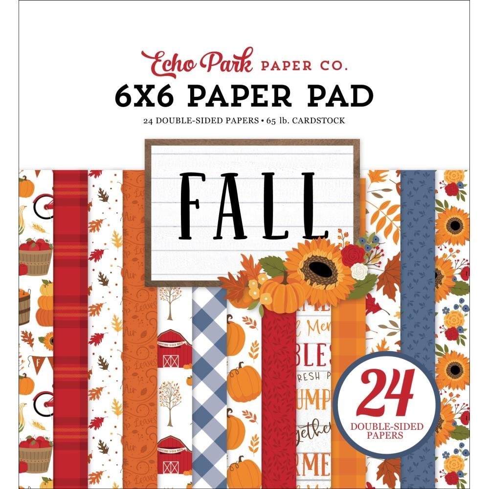 Echo Park Double-Sided Paper Pad 6X6 24/Pkg Fall