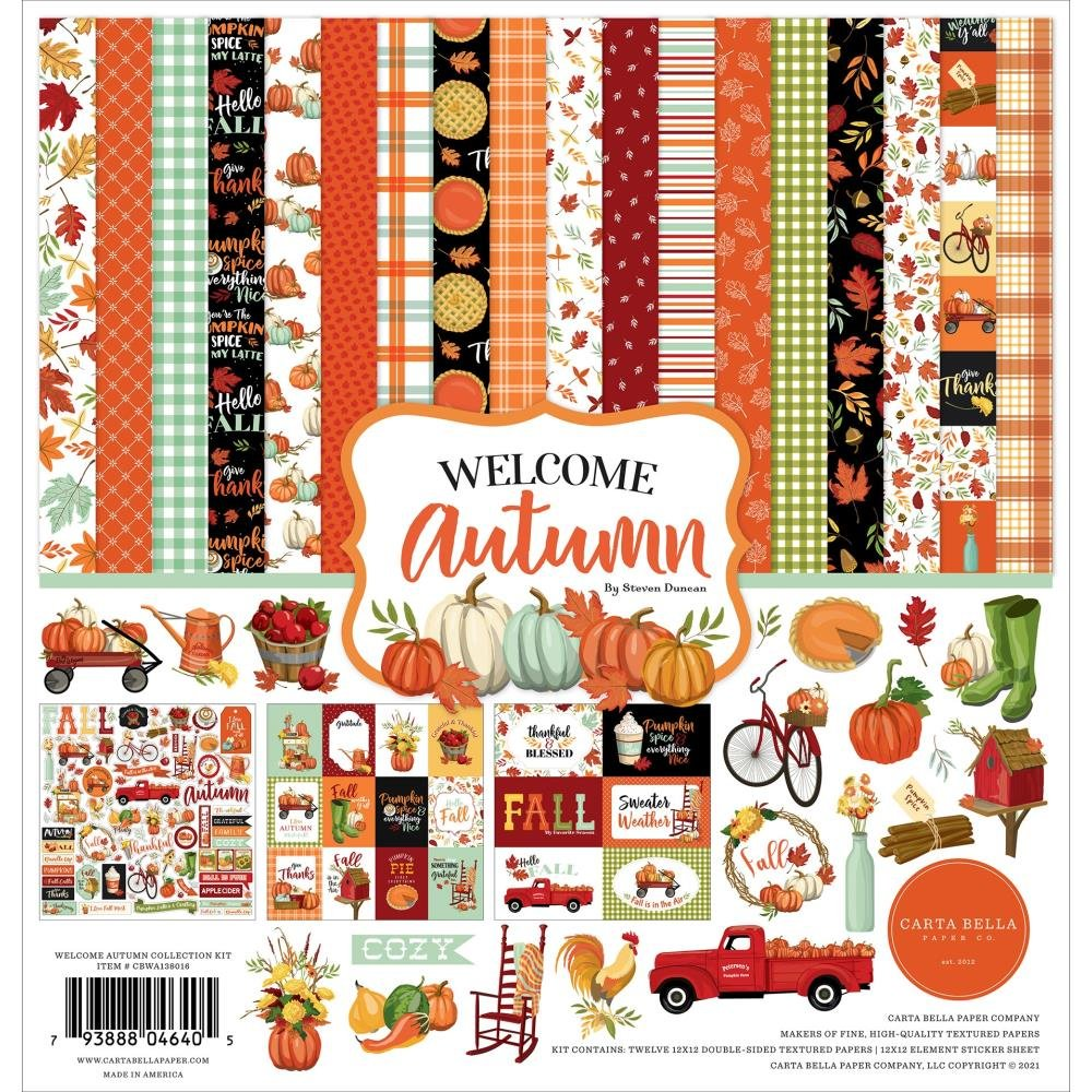 Carta Bella Collection Kit 12X12 Welcome Autumn