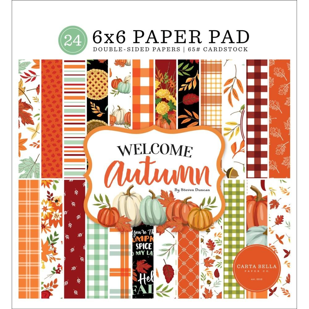 Carta Bella Double-Sided Paper Pad 6X6 24/Pkg Welcome Autumn