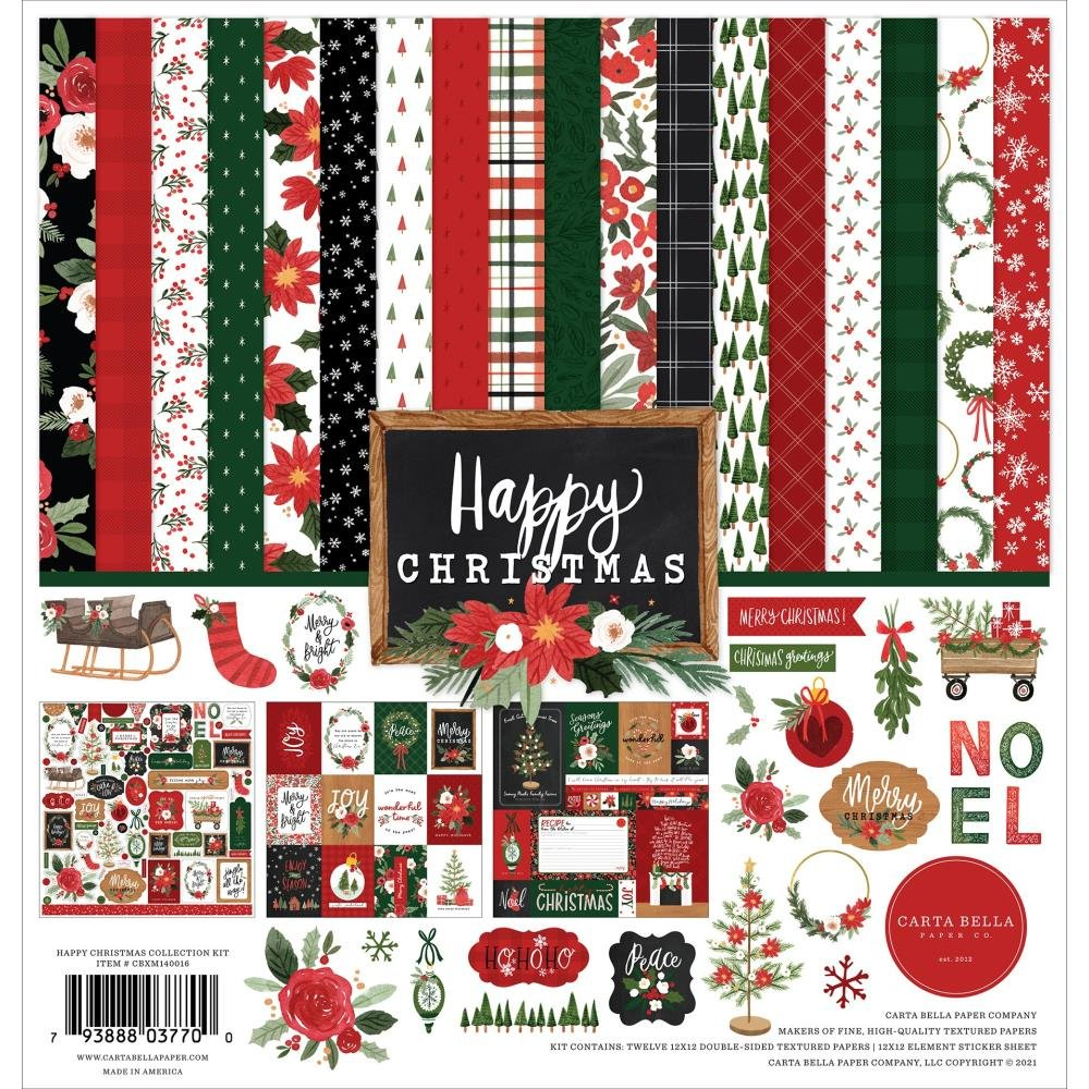 Carta Bella Collection Kit 12X12 Happy Christmas