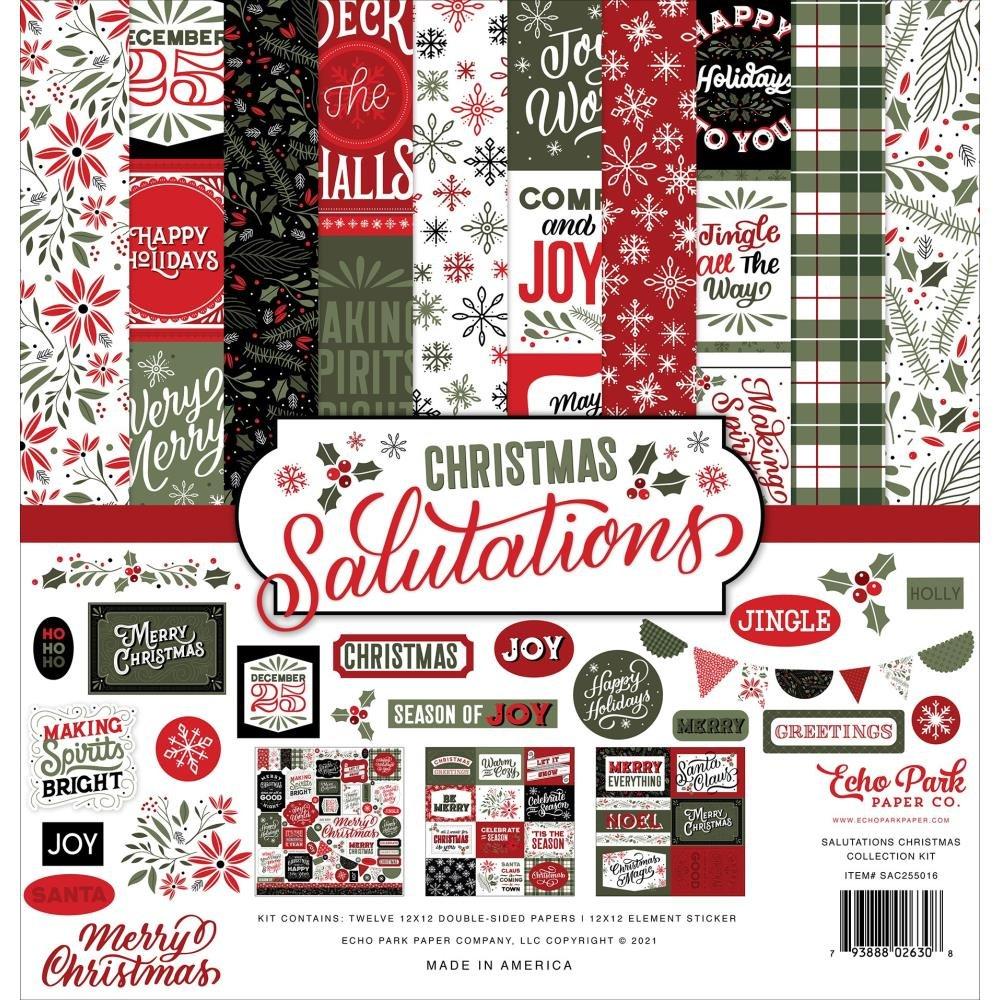 Echo Park Collection Kit 12X12 Christmas Salutations