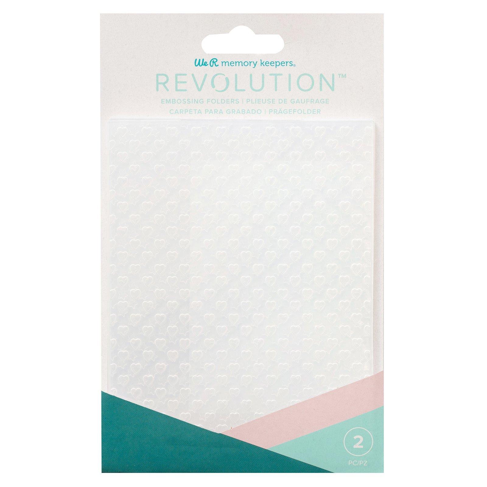 We R Memory RevEmbossing Folders (2) Hearts/Stars