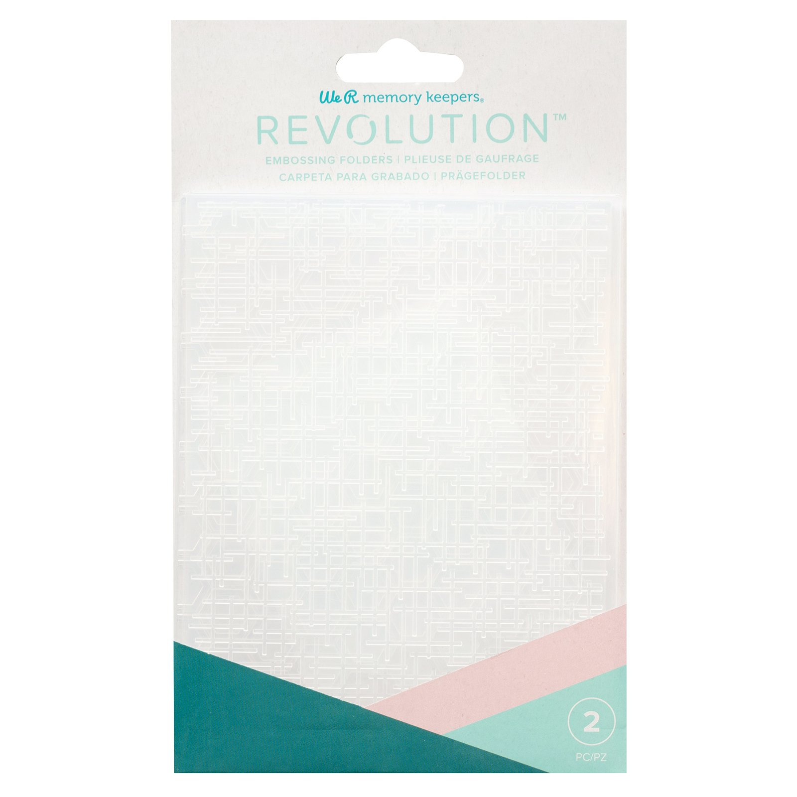 We R Memory RevEmbossing Folders (2) Woven Honeycomb