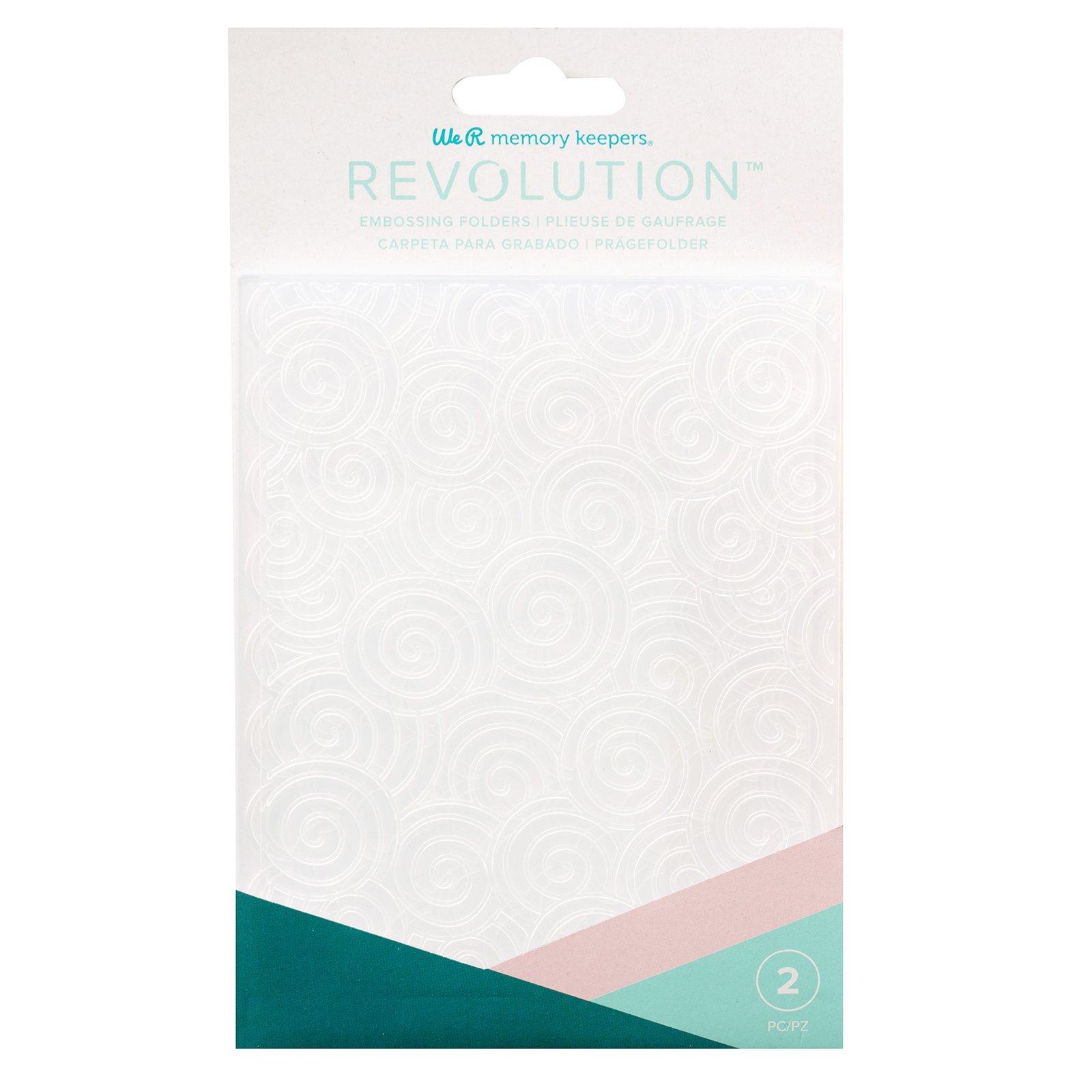 We R Memory RevEmbossing Folders (2) Swirls/Scallops