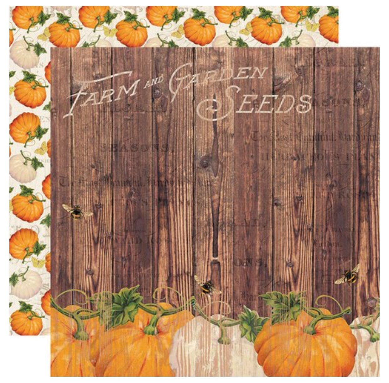 Simple Stories Autumn Splendor Double-Sided Cardstock 12X12 Harvest Memories