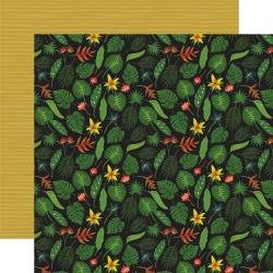 Echo Park Animal Safari Double-Sided Cardstock 12X12 Tropical Leaves