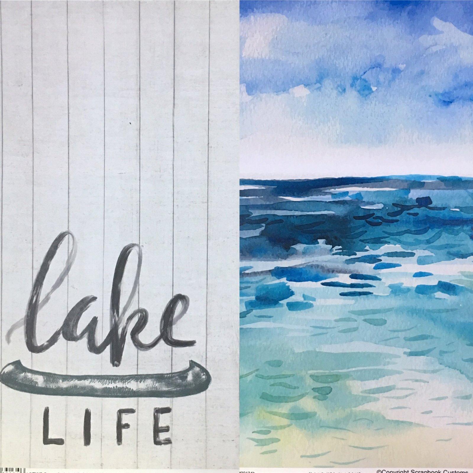 Scrapbook Customs: Lake Life & Lake WC 12x12
