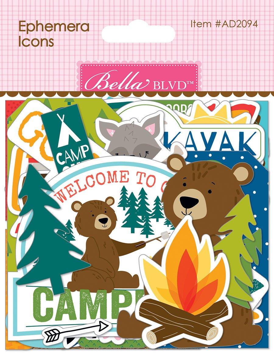 BB Cardstock Ephemera Icons, Let's Go On An Adventure