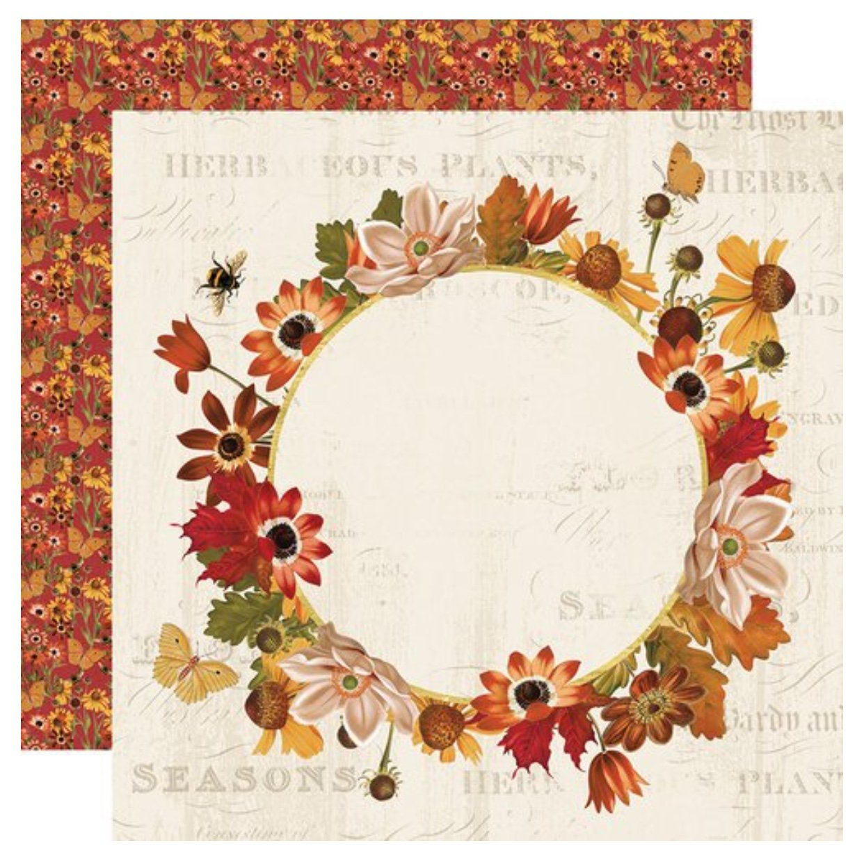 Simple Stories Autumn Splendor Double-Sided Cardstock 12X12 Splendor