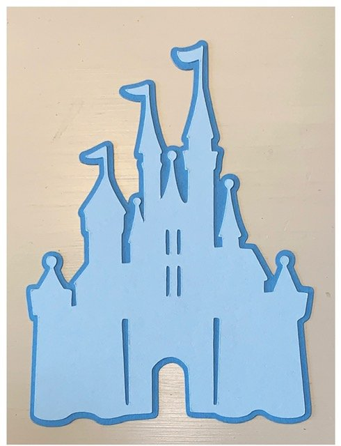 Just Add Photos- Castle (Blue, White)