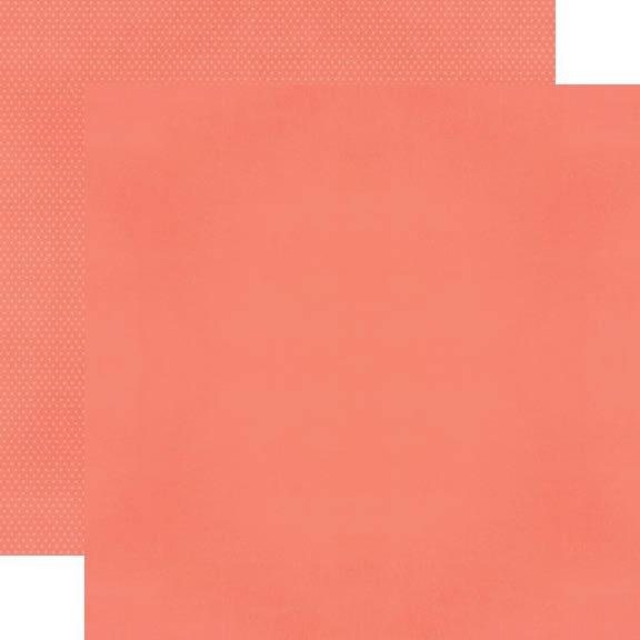 Simple Stories Color Vibe Coral Double-Sided Cardstock 12X12