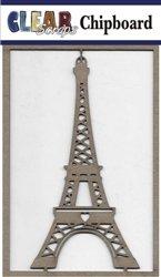 Clear Scraps Eiffel Tower Chipboard Embellishments