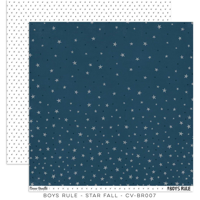 Cocoa Vanilla Studio: Boys Rule Star Fall Paper