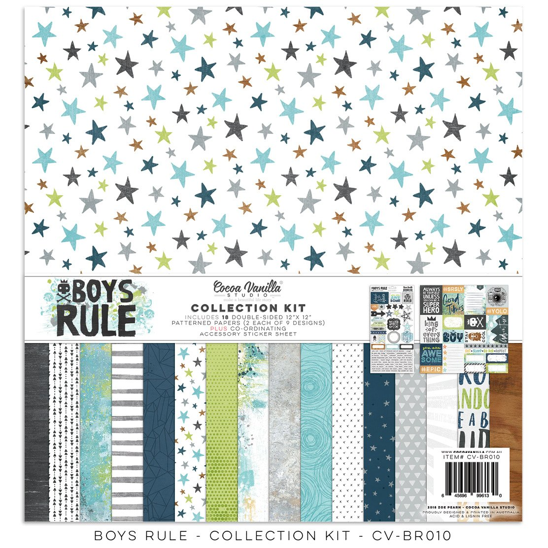 Cocoa Vanilla Studio: Boys Rule Collection Kit 12x12