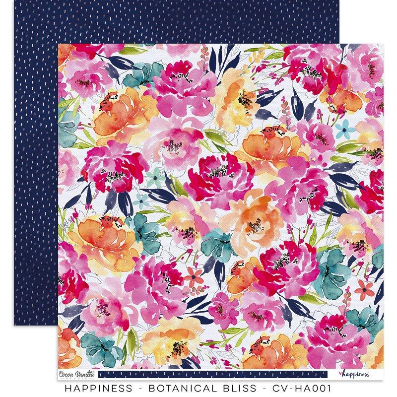 Cocoa Vanilla Studio: Happiness Botanical Bliss 12x12 Paper