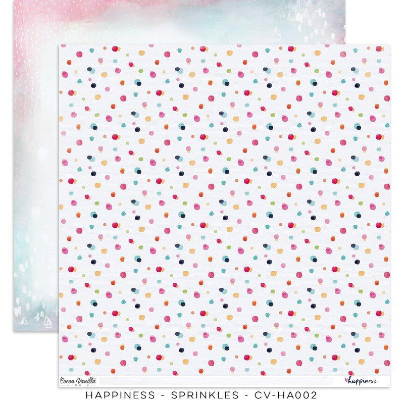 Cocoa Vanilla Studio: Happiness Sprinkles 12x12 Paper