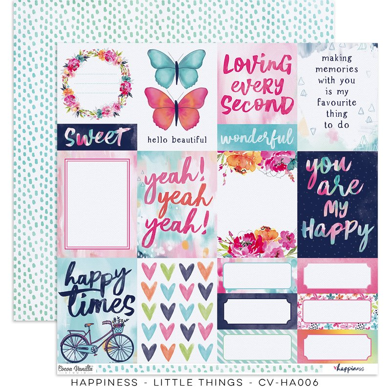 Cocoa Vanilla Studio: Happiness Little Things 12x12 Paper