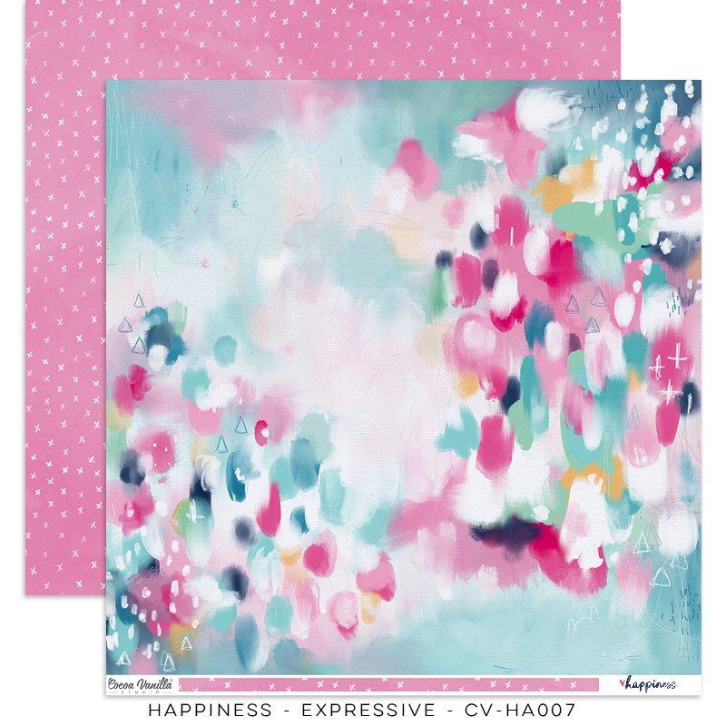 Cocoa Vanilla Studio: Happiness Expressive 12x12 Paper