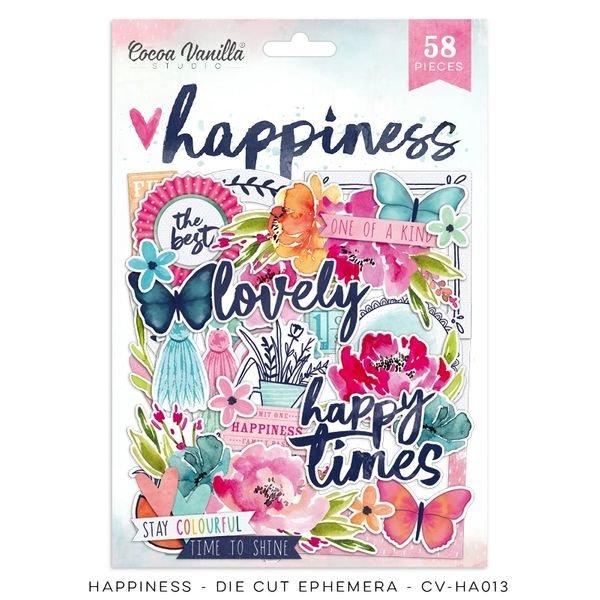 Cocoa Vanilla Studio: Happiness Die Cut Ephemera Pack