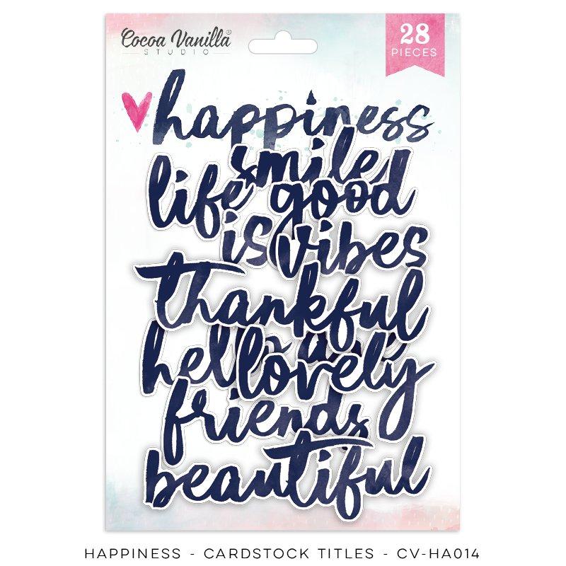 Cocoa Vanilla Studio: Happiness Die Cut Cardstock Titles
