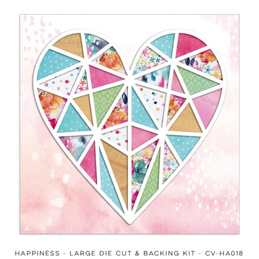 Cocoa Vanilla Studio: Happiness Large Die Cut and Backing Kit