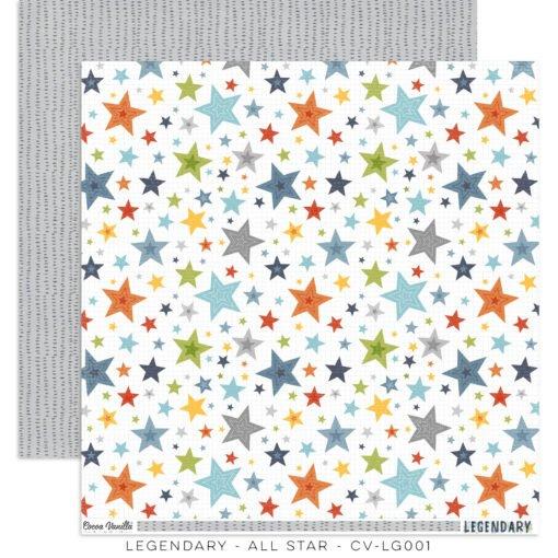 Cocoa Vanilla Studio: LEGENDARY All Star Double-Sided 12x12 designer paper