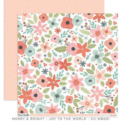 Cocoa Vanilla Studio MERRY & BRIGHT DS Designer Paper 12x12 Joy To The World