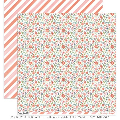 Cocoa Vanilla Studio MERRY & BRIGHT DS Designer Paper 12x12 Jingle All The Way