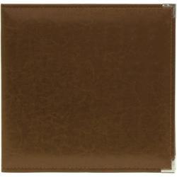 We R Classic Leather D-Ring Album 12X12: Dark Chocolate