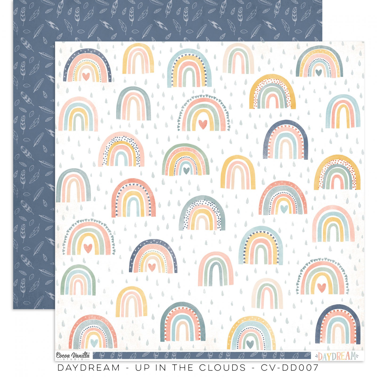 Cocoa Vanilla Studio DAYDREAM Double-Sided Designer Paper 12x12 Up In The Clouds