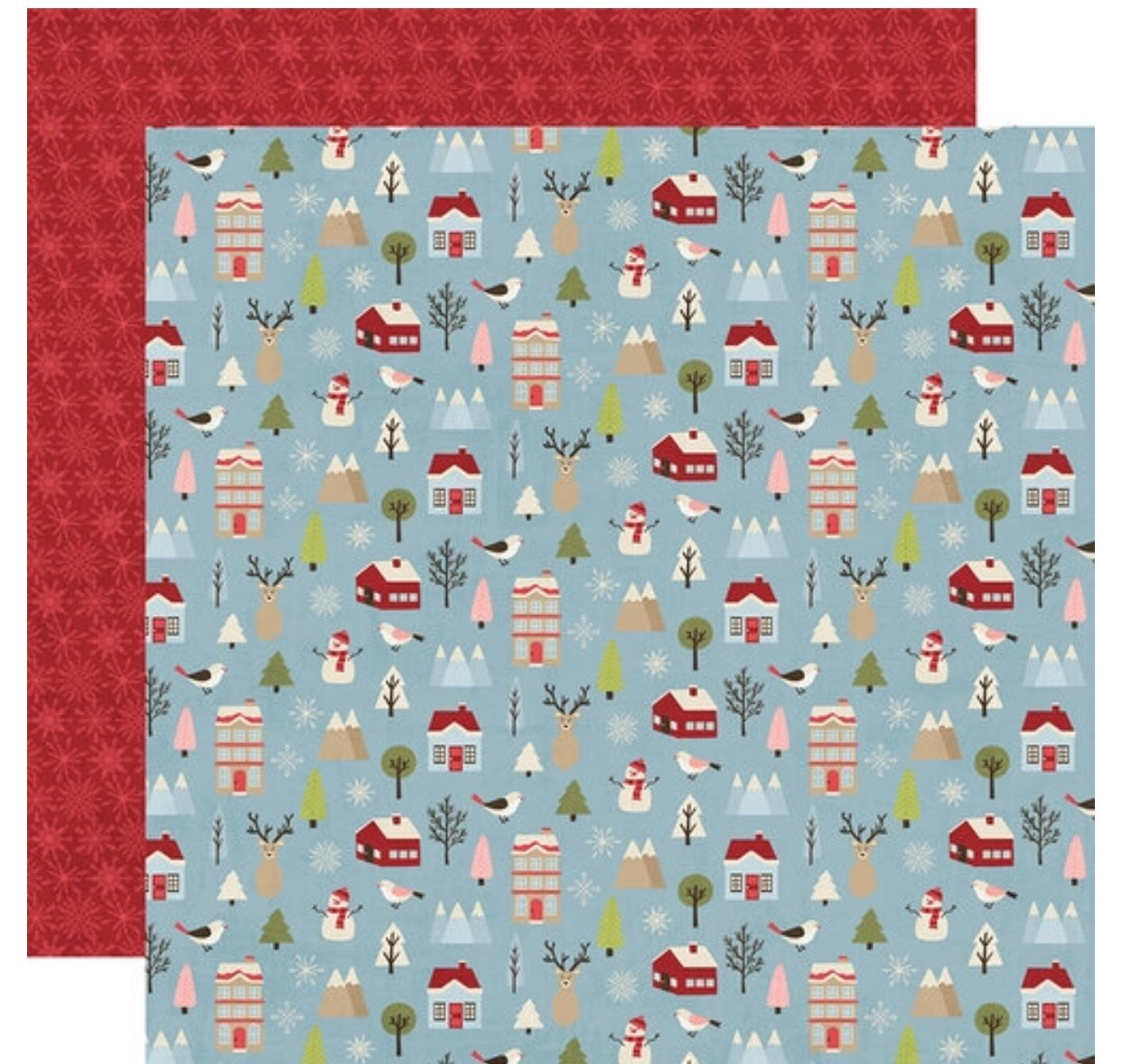 Simple Stories Holly Jolly Double-Sided Cardstock 12X12 Winter Wonderland
