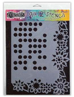 Dyan Reaveley's Dylusions Stencil 9x12 - Dotted Flowers