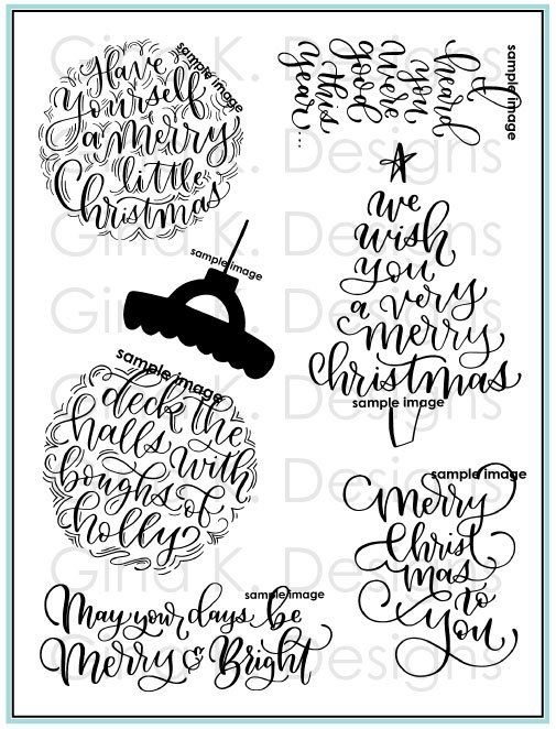 GKD Emily Loggans-A Very Merry Christmas Clear Stamps