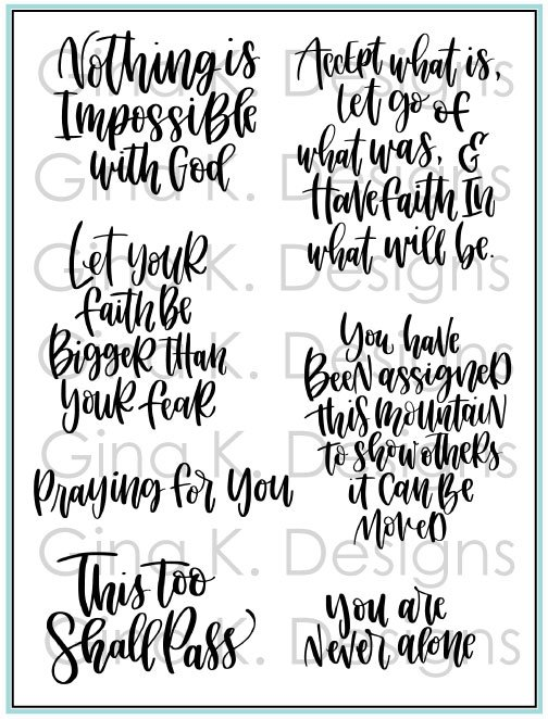 GKD Emily Loggans-Have Faith Clear Stamps