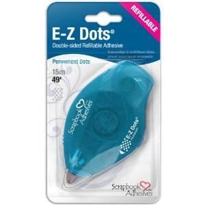 SCRAPBOOK ADHESIVES E-Z Dots Refillable Dispenser Permanent 49'